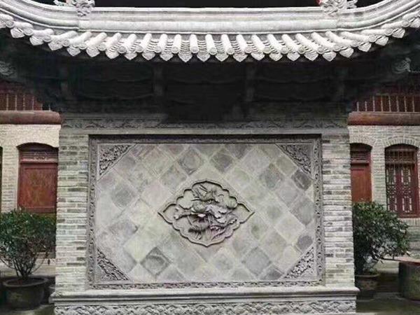 砖雕影壁效果
