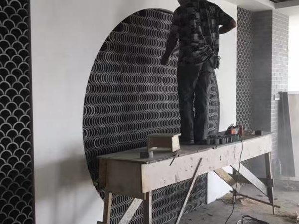 装饰立瓦、铺地立瓦
